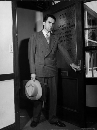 13051217~Attorney-Richard-Nixon-in-the-Doorway-of-Law-Office-After-Returning-From-WWII-to-Resume-His-Career-Posters